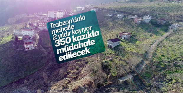 İki yıldır kayan mahalle 350 fore kazıkla kurtarılacak
