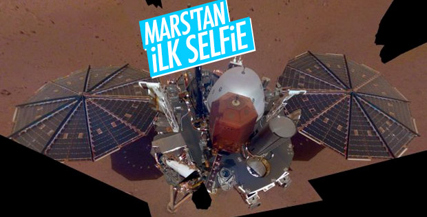 Mars'tan ilk selfie geldi