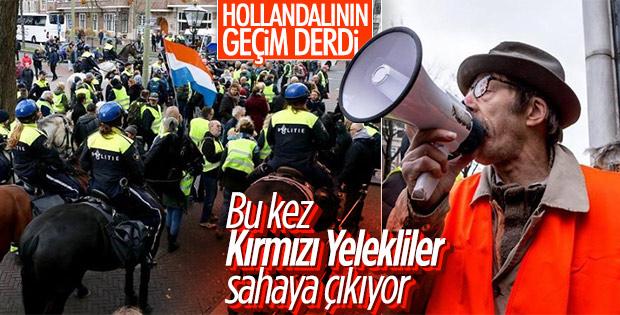 Hollanda'da Kırmızı Yelekliler eylem yapacak