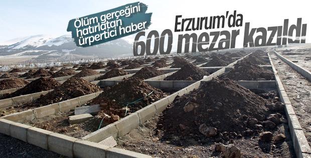 Erzurum'da 600 kişilik mezar yeri kazdılar
