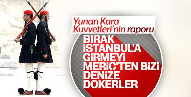 Yunan Kara Kuvvetleri Komutanlığı Türkiye'den korkuyor