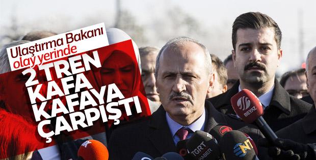 Ulaştırma Bakanı Turhan kaza bölgesinde açıklama yaptı