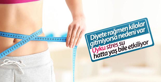 Diyetle gitmeyen kilonun sebepleri