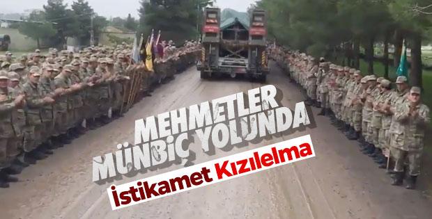 Türk askeri Münbiç yolunda