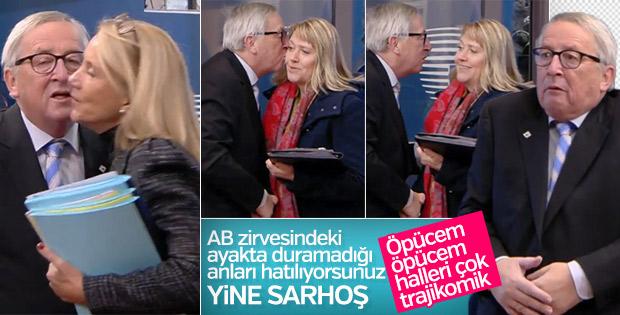 AB Komisyon Başkanı Juncker yine sarhoş