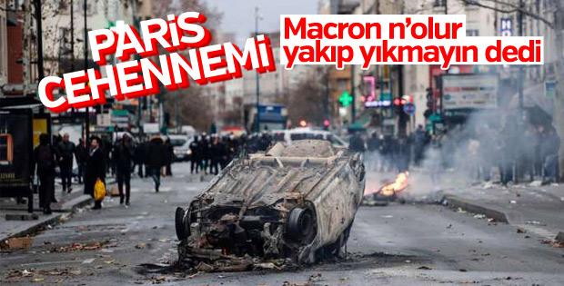 Macron, Sarı Yelekliler'e 'sakin olun' diye seslendi