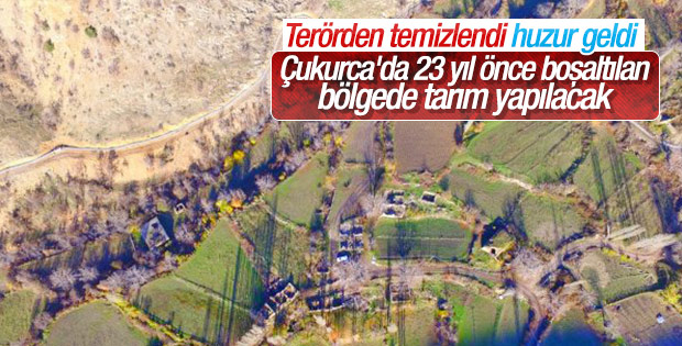 Terörden temizlenen topraklar tarım alanı olacak