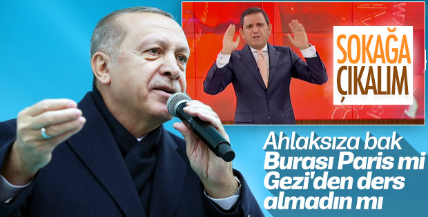 Cumhurbaşkanı Erdoğan'dan Fatih Portakal'a sert tepki