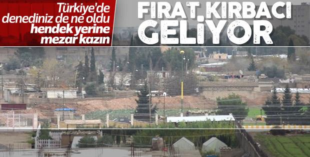 Terör örgütü YPG hendek kazmaya başladı