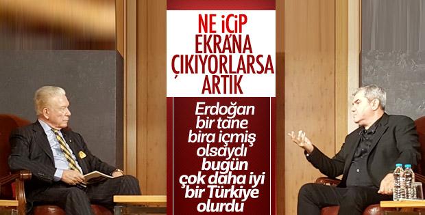Yılmaz Özdil, Erdoğan'ın bira içmesi gerektiğini söyledi