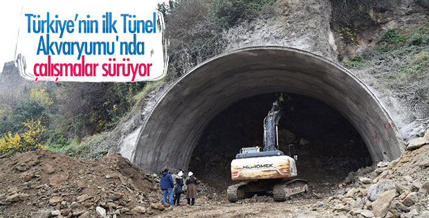 Türkiye'nin ilk Tünel Akvaryumu'nda son 40 metre