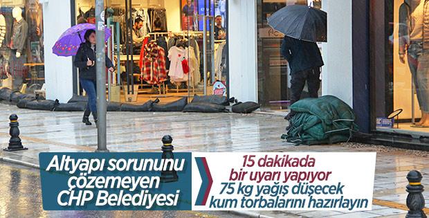 Bodrum'da yağmur alarmı