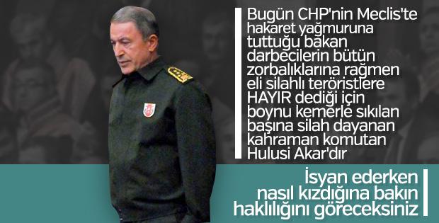 Meclis tutanaklarında Hulusi Akar'ın CHP'lilerle tartışması