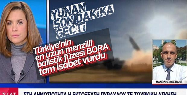 Milli Füze Bora hedefi 280 kilometreden vurdu