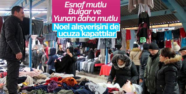 Yunan ve Bulgar turistleri Noel alışverişi için Edirne'de