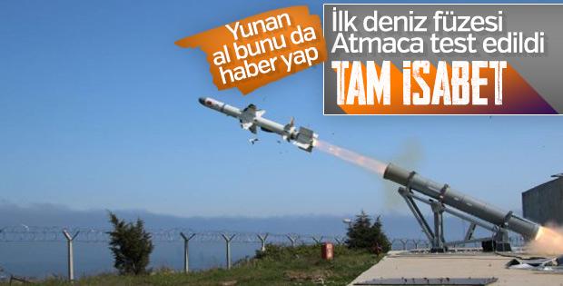 Atmaca füzesi Sinop'ta test edildi
