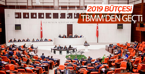 2019 Bütçesi TBMM'de kabul edildi
