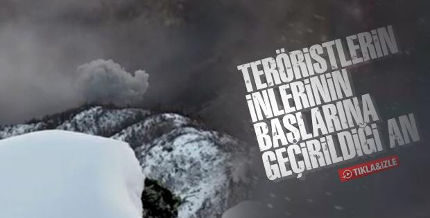 Tunceli'de teröristlerin öldürülme anı kameraya alındı