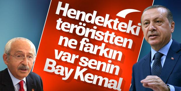 Erdoğan'dan Kılıçdaroğlu'na: Hendek kazanlardan farkın yok