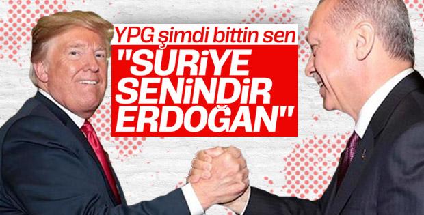 Trump'tan Erdoğan'a: Suriye sizindir