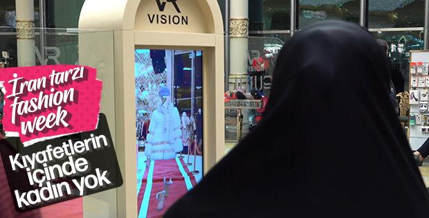 İran'da modelsiz defile