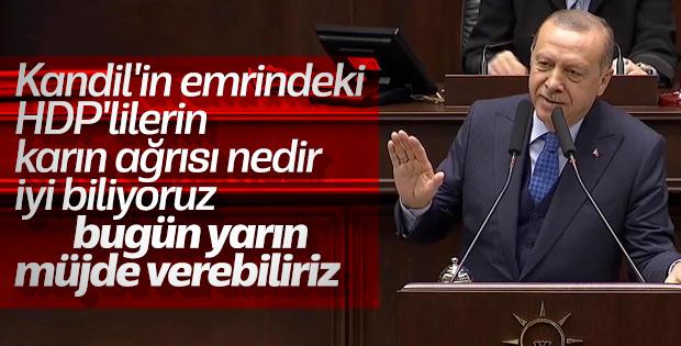 Erdoğan: Kandil'den talimat alanlarla ilgili müjde var
