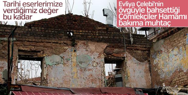 Mimar Sinan'ın 470 yıllık hamamı yıkılmaya yüz tuttu