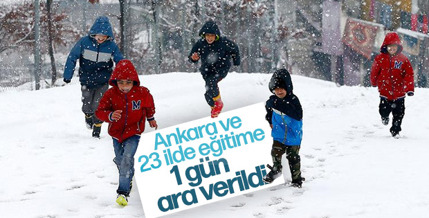 24 ilde okullara kar tatili