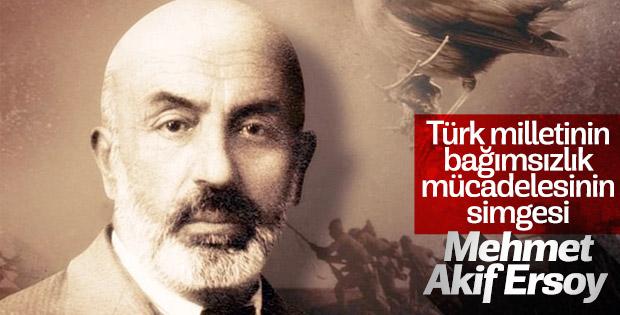 İstiklal Marşı'mızın şairi Mehmet Akif Ersoy anıldı