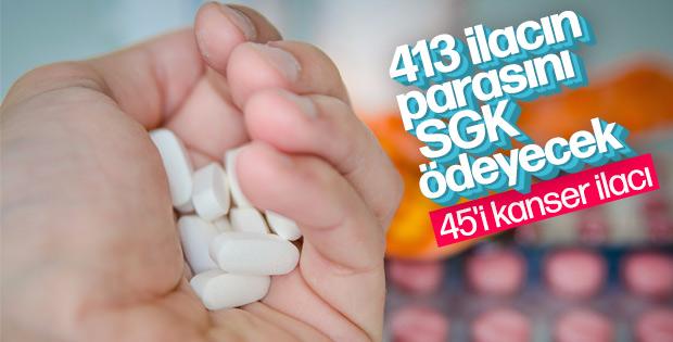 SGK 413 ilacı geri ödeme listesine aldı