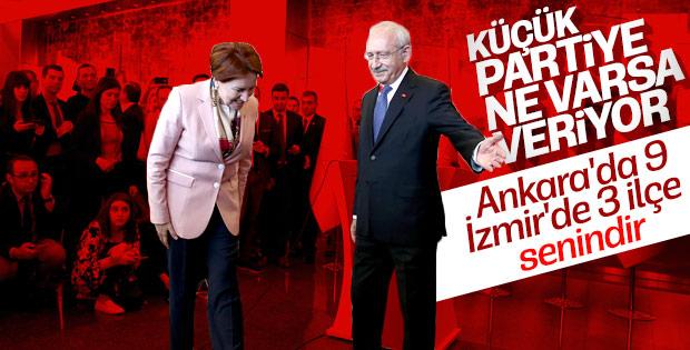 Kılıçdaroğlu'nun verdiği 9 ilçeyi Akşener yeterli görmedi