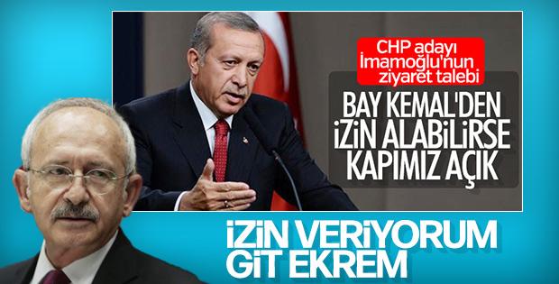 İmamoğlu: Erdoğan ile görüşmek için izin aldım