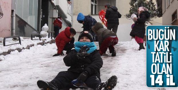28 Aralık Cuma günü kar tatili olan iller