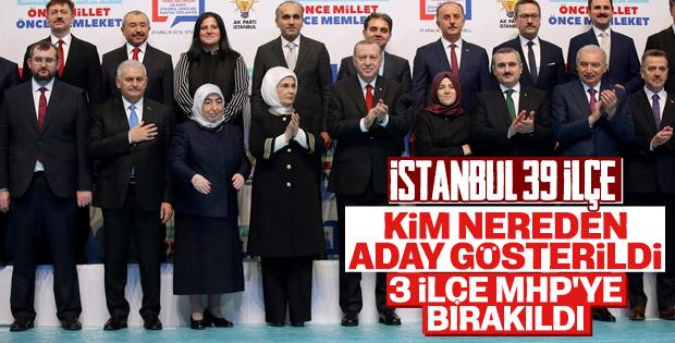 AK Parti'nin İstanbul'daki ilçe adayları listesi