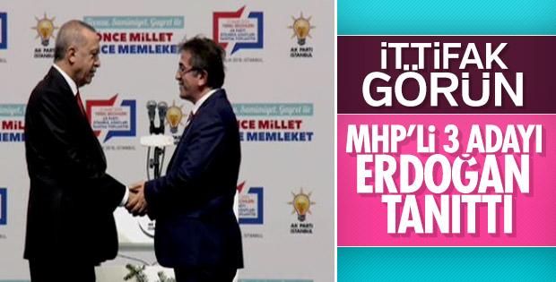 Erdoğan, MHP'nin İstanbul'daki 3 ilçe adayını açıkladı