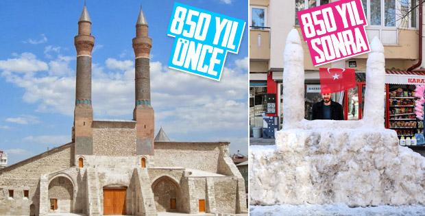 Kardan Çifte Minareli Medrese yapan Sivaslı