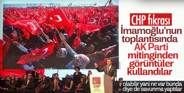 İmamoğlu'nun tanıtım toplantısında AK Parti mitingi