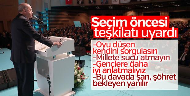 Cumhurbaşkanı'nın AK Parti İl Teşkilatı konuşması