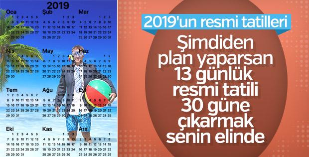2019 resmi tatil günleri: Nereye gidelim