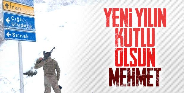Mehmetçik'in yılbaşı nöbeti