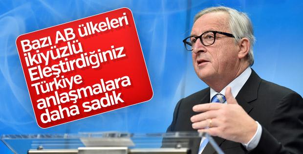 Juncker'den AB ülkelerine: İkiyüzlüsünüz