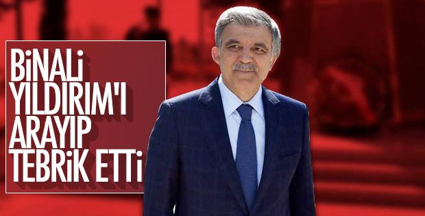 Abdullah Gül'den Binali Yıldırım'a tebrik telefonu