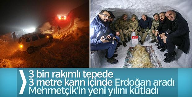 Cumhurbaşkanı Erdoğan 'kahramanların' yeni yılını kutladı