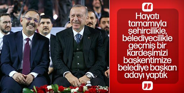 Erdoğan: Başkente yakışır bir başkan adayı belirledik