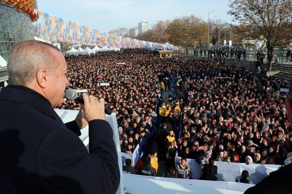 Cumhurbaşkanı Erdoğan: 25 ilçeden 3'ü MHP'den