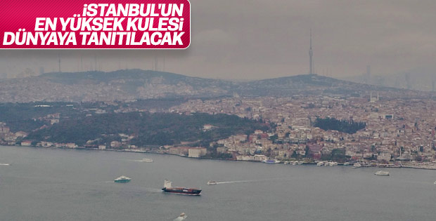 Çamlıca Kulesi Taksim'den görünüyor