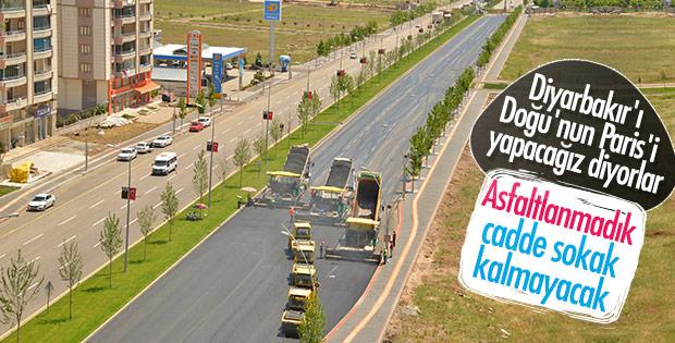 Diyarbakır'a rekor miktarda asfalt döküldü