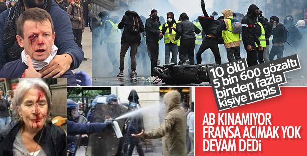 Fransa Başbakanı'ndan eylemcilere tehdit