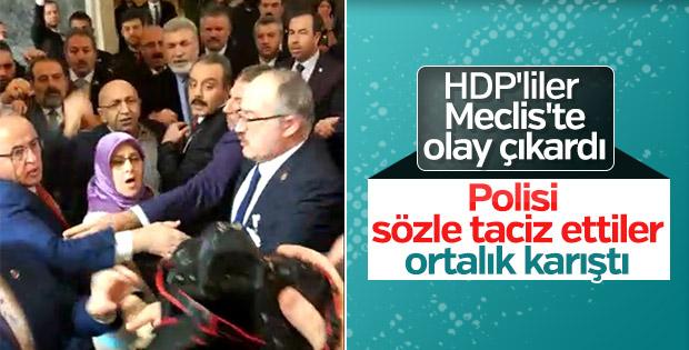 HDP'li vekiller Şeref Holü'nde olay çıkardı