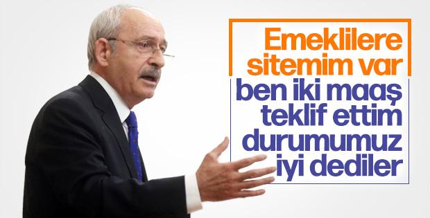 Kemal Kılıçdaroğlu emeklilere sitem etti